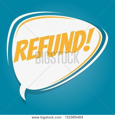 refund retro speech balloon