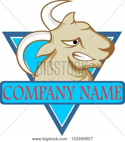 stock logo the goat on blue triangle