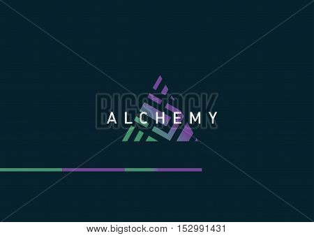 Development of creative geometric logo on alchemy
