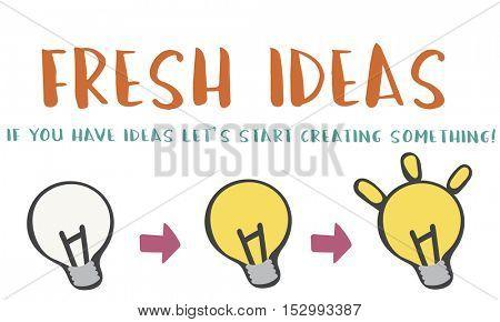 Fresh Ideas Design Inspiration Invention Concept