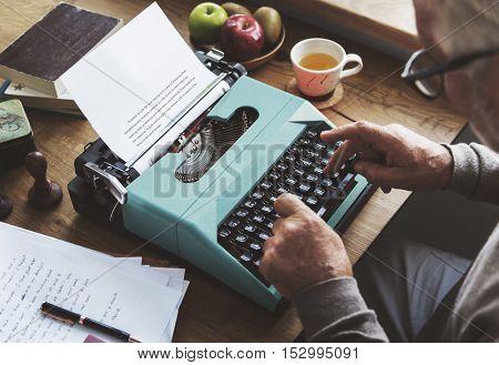 Typing Typewriter Vintage Style Alphabet Concept