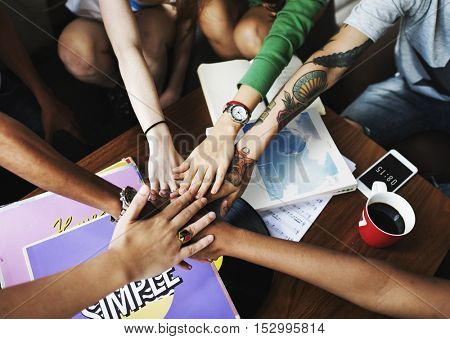 People Friendship Togetherness Assemble Team Unity Concept