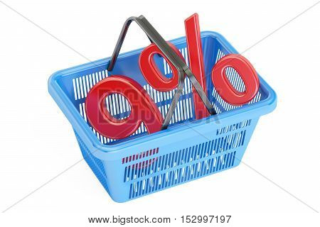 Discount and sale 9% concept 3D rendering isolated on white background