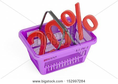 Discount and sale 20% concept 3D rendering isolated on white background