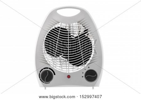 Electric heater isolated on a white background