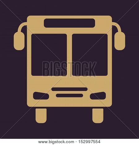 The bus icon. Public transport stop symbol. Flat Vector illustration