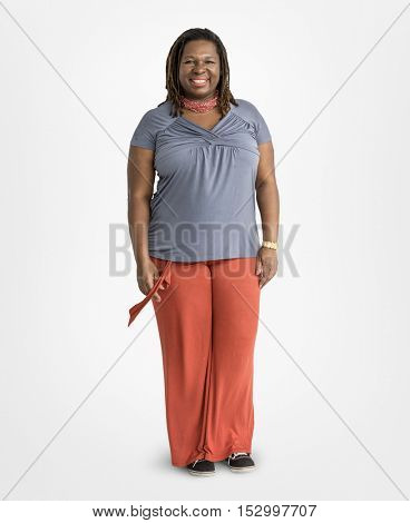 Woman Smiling Cheerful Happiness Enjoyment Concept