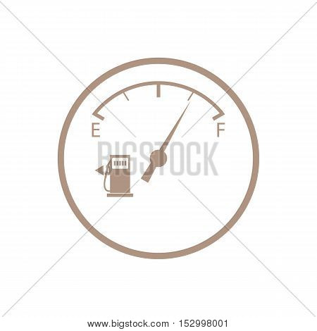 Stylized Icon Of The Automobile Fuel Sensor
