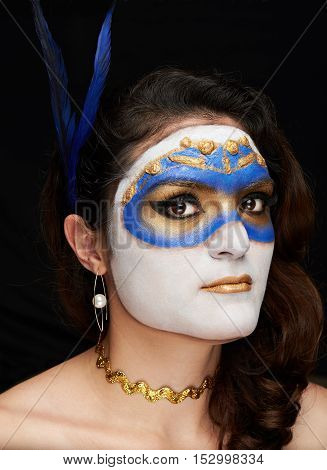 Close Up Of Mask On Women Face