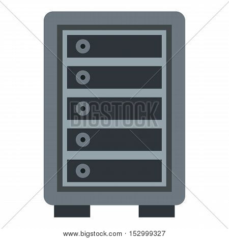 Hotel safe icon. Flat illustration of safe vector icon for web design