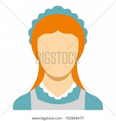 Hotel maid icon. Flat illustration of maid vector icon for web design