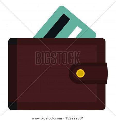 Wallet with credit cards icon. Flat illustration of wallet vector icon for web design
