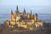 stock photo of rebuilt  - A photography of the german castle Hohenzollern - JPG