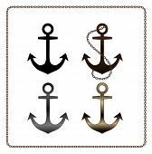 foto of navy anchor  - vector metal anchor - JPG