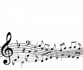 foto of musical note  - template with music notes - JPG