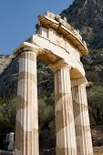 stock photo of oracle  - the oracle of delphi in Greece - JPG