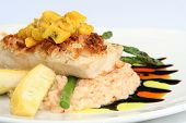 stock photo of mahi  - Gourmet meal - JPG