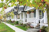pic of subdivision  - Friendly neighborhood with porches and sidewalk - JPG
