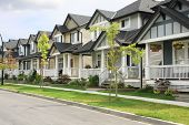 image of subdivision  - Friendly neighborhood of townhouses - JPG