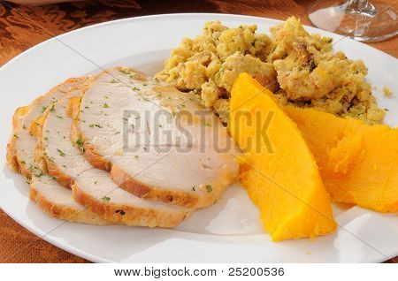 Turkey And Squash Dinner