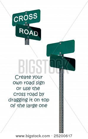 Crossroad Road Signs