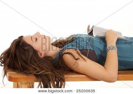 Laying On Back Book Asleep