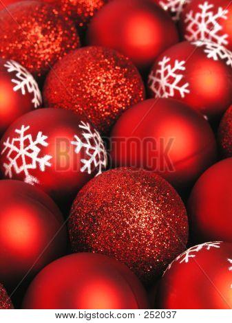 Red Christmas Kugeln