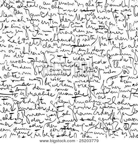 Nahtloser vektor Wallpaper basiert auf Kafkas Manuskript
