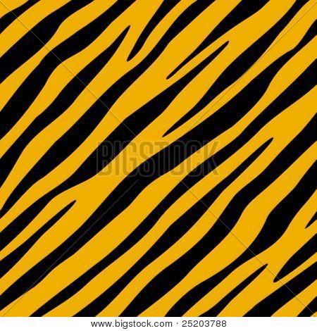 Tiger fell. Vector seamless wallpaper