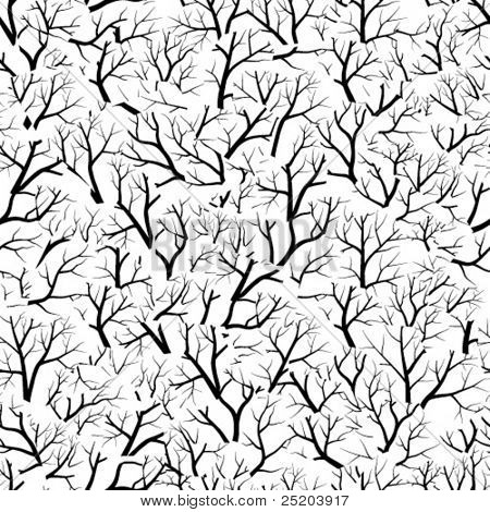 Seamless vector wallpaper. Trees