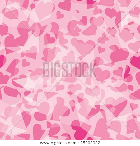 Hearts broken. Seamless vector wallpaper. All colors easy for change