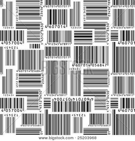 Barcodes. Seamless vector wallpaper
