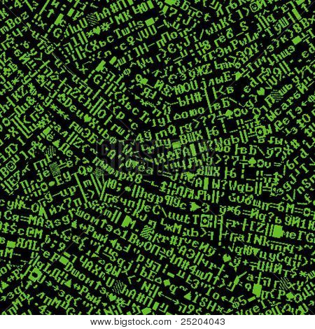 Screen font torn. Vector seamless wallpaper. All elements easy for editing on separated layer