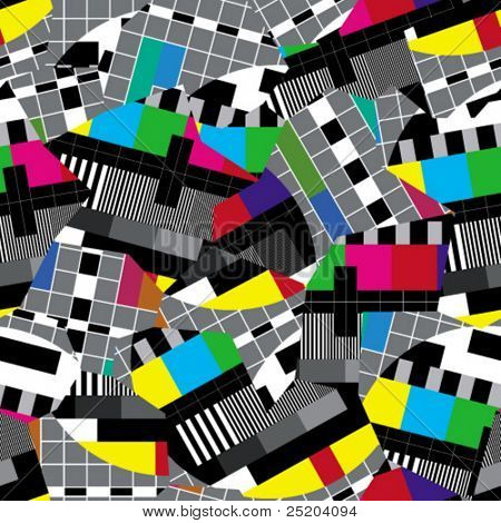 Crazy TV. Seamless wallpaper Based on TV test card