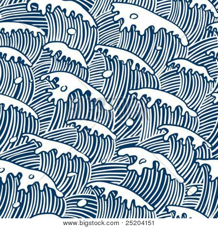 sea waves vector seamless wallpaper