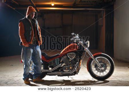 Biker Standing