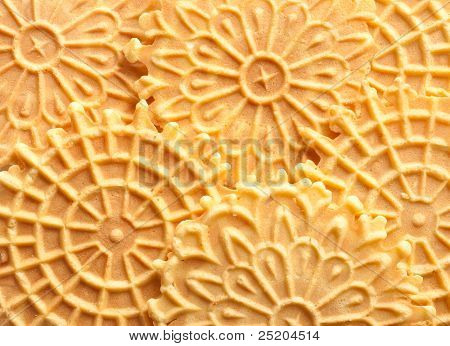 Pizzelle, traditional Italian holiday cookies