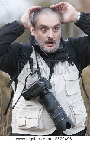 Terrified Photographer.