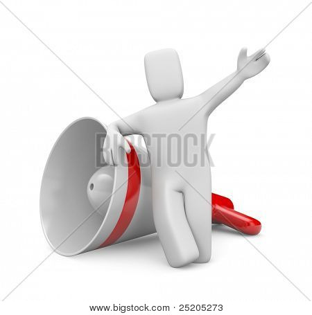 Communicaton metaphor. Image contain clipping path