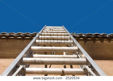 Home Construction With Ladder