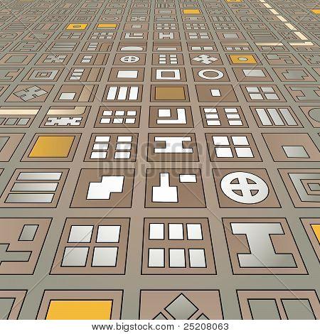 Angled Grid City
