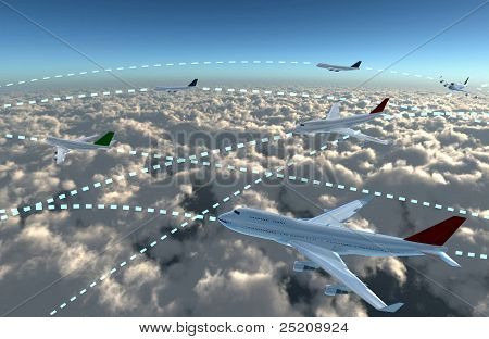 Airplanes Sky airline plan