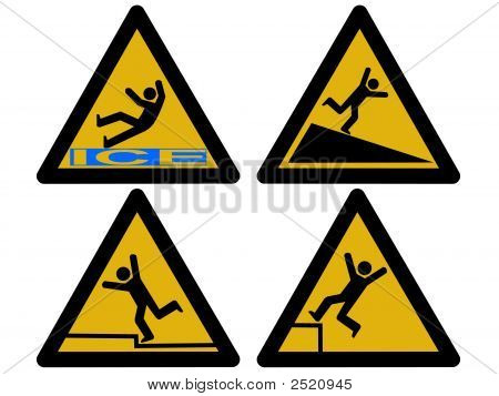 Caution Falling Signs
