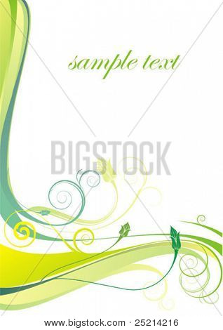 Vector - green paper for image or text.