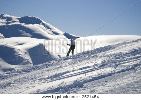 Snowboarding Winter Fun Stock Photo