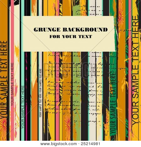 Grunge background para texto