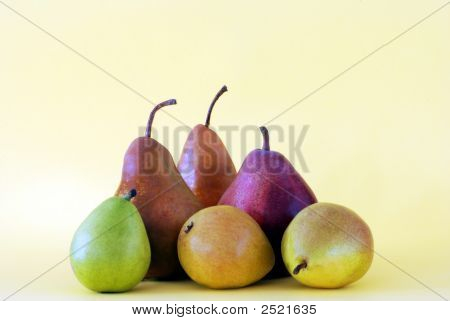 Diverse Group Of Pears