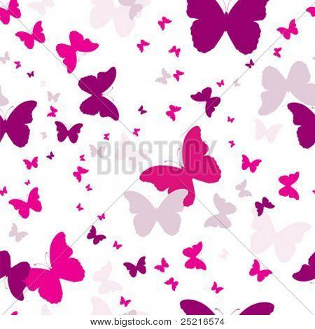 sich wiederholende Hintergrund mit Schmetterlingen