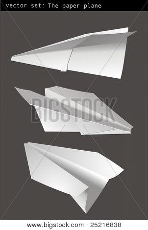 Vector Set - avión de papel