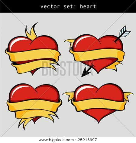 vector set = heart